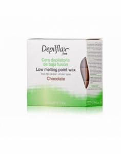 Depilflax | Горячий воск в брикетах Depilflax 100, шоколад, 500 гр