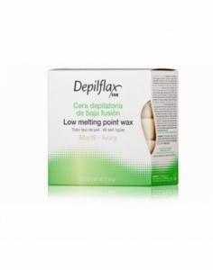 Depilflax |Горячий воск в брикетах Depilflax 100, слоновая кость, 500 гр